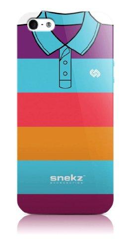 Snekz Coque brillante pour iPhone 5/5S Motif polo Muliticolour Five Multicolore - Un