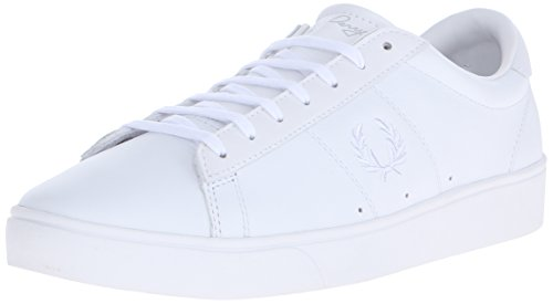 fred-perry-chaussures-spencer-leather-blanc-weiss-