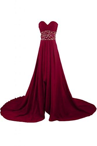 Sunvary Charming Sweetheart Pageant Vestito lungo da sera, da donna, per abiti da sera, Maxi Borgogna