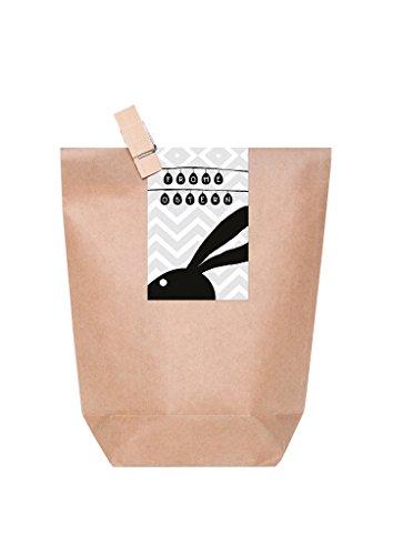 10-pochettes-cadeaux-brunes-avec-un-oster-lave-vaisselle-avec-texte-joyeux-paques-et-tete-lapin-de-p