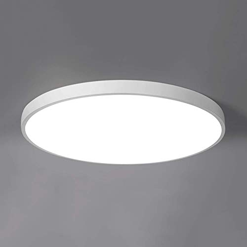 WJN Ultradünne Moderne Nordic LED Deckenleuchte Runde schwarz weiß Schlafzimmer Wohnzimmer Beleuchtung kreative Studio Restaurant Balkon Beleuchtung kaufen Versprechen Dimmen (mit Fernbedienung)