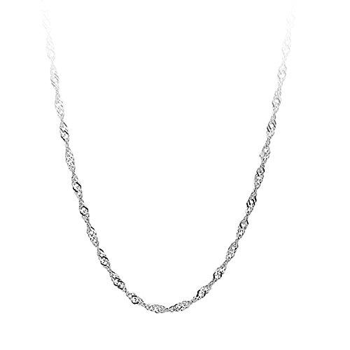 AieniD Frauen Versprechen Geschenk 925 Sterling Silber Halskette für Damen