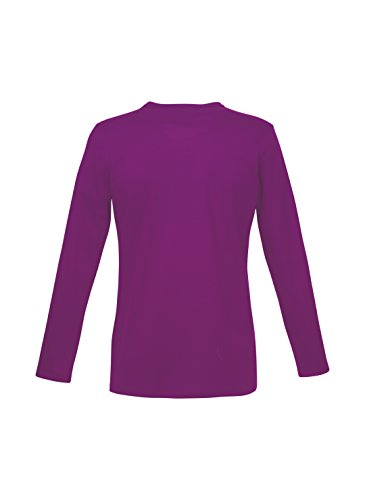 Trigema Jungen Langarm-Shirt, Chemise Garçon Violet - Violett (brombeer 099)