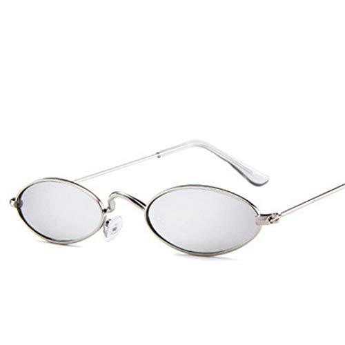 YOGER Sonnenbrillen Männliche UndWeiblicheOvale Sonnenbrille Retro-Metallrahmen Altmodische Kleine Runde Sonnenbrille2018 Uv400