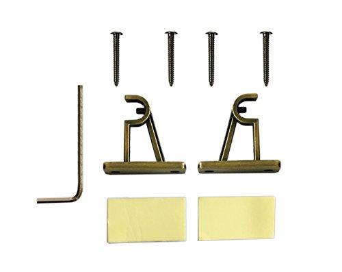 tilldekor designvitragestange meran messing antik 10mm ausziehbare gardinenstange inkl. Black Bedroom Furniture Sets. Home Design Ideas