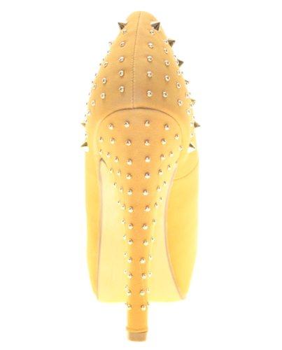 More Styling , Escarpins peep-toe femme Marron - Camel