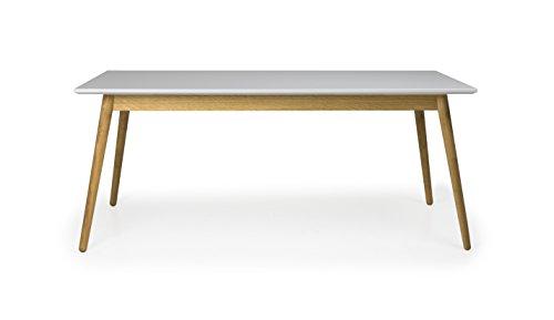 tenzo 1680-012 Dot Designer Esstisch Holz, Grau/Eiche, 90 x 180 x 75 cm