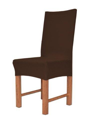 Edle Stuhlhusse Husse Stretchhusse aus Baumwolle - Elastic Stuhlüberzug Farbe Schoko