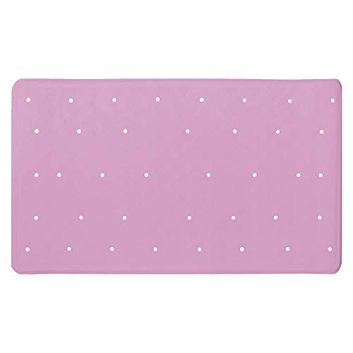 ANSIO Badematte Badewanne Rutschfeste Anti-Schimmel-Duschmatte aus Gummi 40 x 70 cm - Rosa