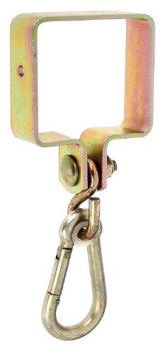 Gah-Alberts 217518 Schaukelschelle für Vierkantholz 90 x 90 mm, galvanisch gelb verzinkt
