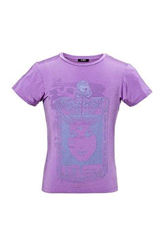 Costume National C'N'C Herren T-Shirt Verwaschen, Vintage Rundhals, MYSTERIE Card Rosa