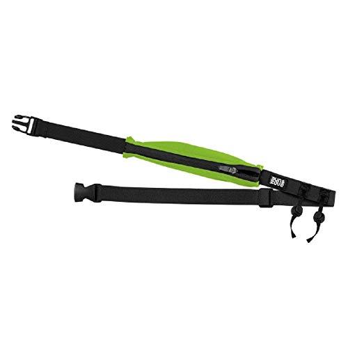 RUN & MOVE Hüftgürtel Blow Up Belt, Startnummernband mit Flexibler Tasche grün