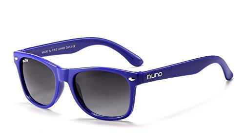 Miuno® Kinder Sonnenbrille Polarisiert Polarized Wayfare für Jungen und Mädchen Etui 6833a (Blau)