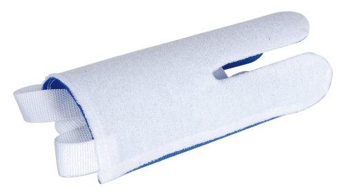 GAH-Alberts 140649 Strumpf-Anziehhilfe - Außenseite: Frottee, weiß, Innenseite: Nylon, blau