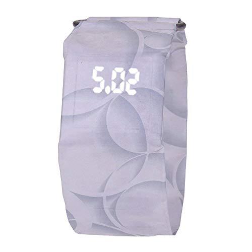 Kreative Papieruhr LED wasserdichte und verschleißfeste elektronische Uhr - Circle White