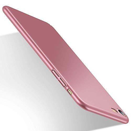 Humixx iPhone 8 Hülle, iPhone 7 Hülle, Anti-Fingerabdruck, Anti-Scratch FeinMatt FederLeicht Hülle Tasche Schale Hardcase für iPhone 8/7-Schwarz (Rosegold)
