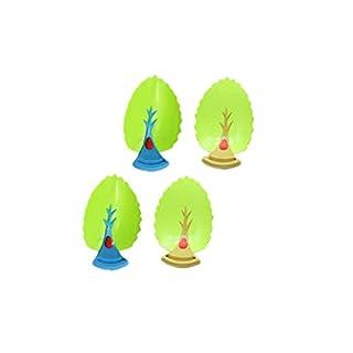 4 Stück Wasserhahn Verlängerung Extender Grünbaumblatt Wasser Hahn Extender für Kinder (braun+blau)