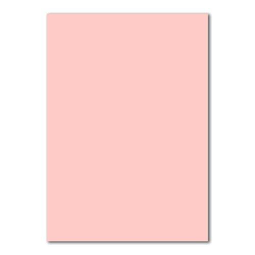 50x DIN A4 Papier Planobogen -Rosa - 160 g/m² - 21 x 29,7 cm - Bastelbogen Ton-Papier Fotokarton Bastel-Papier Ton-Karton - FarbenFroh®