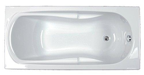 Baignoire ANCOSWING rectangle en acrylique, poignée + repose tête incorporé, 160x70cm