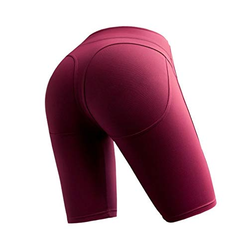 TA-Sport Leggings Für Damen Hosen Pfirsich Hüfttanz Gymnastik Gym Outdoor High Stretch Running Five Hosen Dunkelrot L