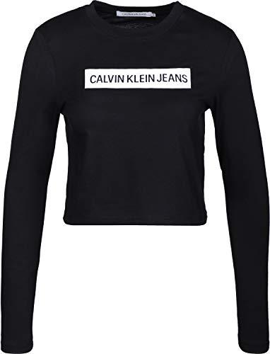 Calvin Klein Jeans Institutional Box Cropped W Longsleeve Black