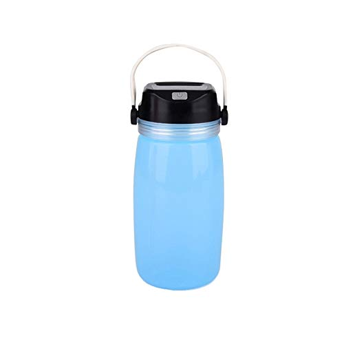 YYBT Camping Lantern USB Creative Water Cup Solar Waterproof Light for Hiking, Emergencies, Hurricanes, Outages,Blue Blue Hurricane Lampe