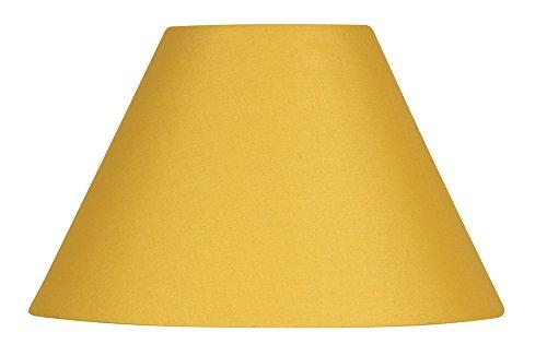 Oaks Lighting - Abat-jour en coton de forme conique, 25 cm Mostarda
