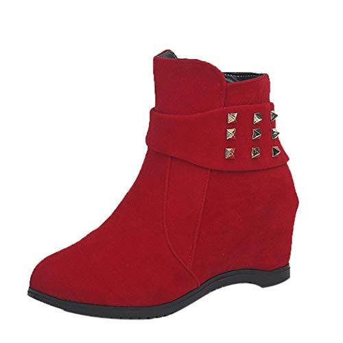 Women Platform Wedge Heel Boots,HOMEBABY Shoes Increased Platform Fashion Casual Ankle Boots Autumn