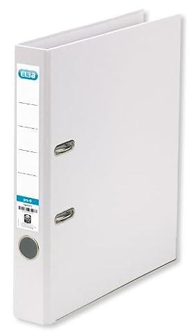 ELBA 100202093 Kunststoff-Ordner smart Pro+ 10er Pack 5 cm schmal DIN A4 weiß Ringordner Aktenordner Briefordner Büroordner Plastikordner Schlitzordner