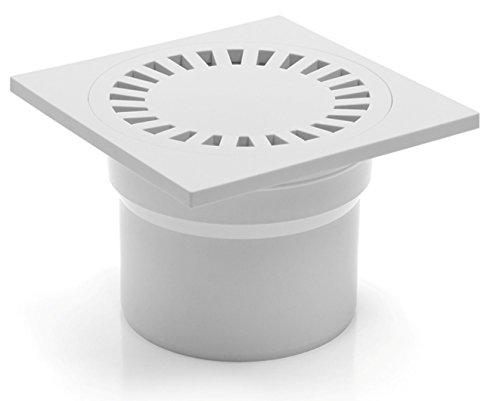 Bonde de douche de salle de bain de siphon de sol-110–150 x 150 mm – DN (323 P d'écoulement B)