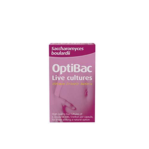 OPTIBAC Saccharomyces boulardii, Packung mit 40 Kapseln