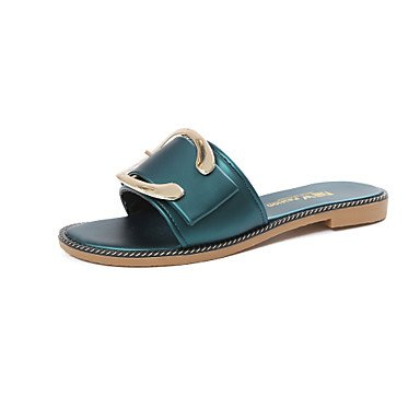 Donne'spantofole & flip-flops Estate Mary Jane Casual in similpelle tacco piatto metallico a piedi di punta US8.5 / EU39 / UK6.5 / CN40
