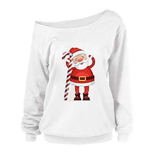 Soupliebe Frauen Frohe Weihnachten Hoodie Weihnachten Print Farbblock Kapuzenpullover Top Kapuzen Kapuzenpullover Hoodie Pullover Sweatshirt
