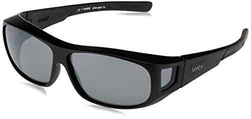Uvex Unisex - Erwachsene Ultra-Spec M Sportsonnenbrille, Black Mat/Lens Litemirror Silver, One Size