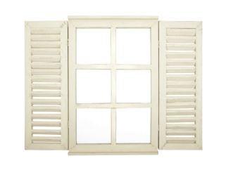 fenster spiegel holz Esschert Spiegel Holz Wandspiegel Spiegelfenster Klappläden Fenster Landhaus