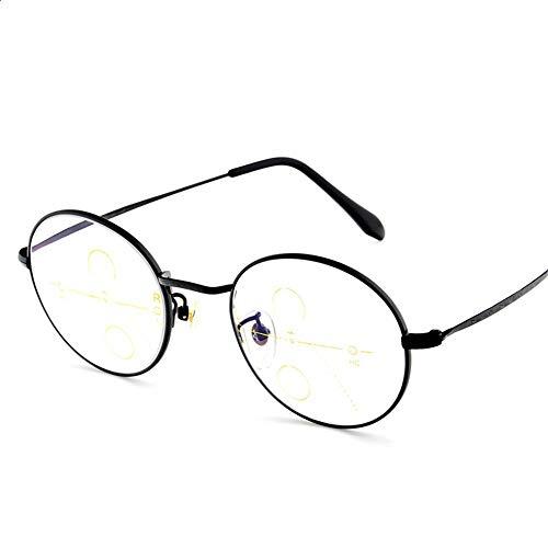 00650fc430 KOMNY Las Gafas de Lectura Multi-Foco progresivas de Titanio Puro Retro  Hombres y Mujeres