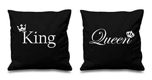 Re e la regina corona Cuscino Nero