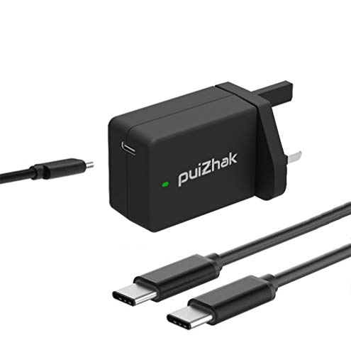 Price comparison product image Puizhak High Quality Universal 45W USB Type C To C PD Quick Charge 3.0 Portable Wall Adapter Charger Power Supply Plug With 1.8 Meter Detachable Sync Charging Cable For Most Type C Laptops,  Smartphones,  Tablets,  Samsung Galaxy S9,  S9 Plus,  S8,  Note 8,  Nintendo Switch,  Notebooks,  Macbook,  IBM,  LG,  Google Pixel,  Motorola,  Microsoft Lumia,  Nokia