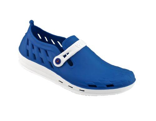Nexo - Chaussures professionnelles WOCK - Antidérapante ; Talon fermé ; Stérilisable ; Amortissement des chocs ; Aérée Blanc/Bleu