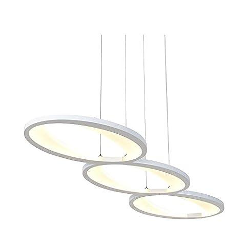 Postmoderne simplicité En aluminium Lustres Blanc LED 3 tête Cercle Salon Restaurant