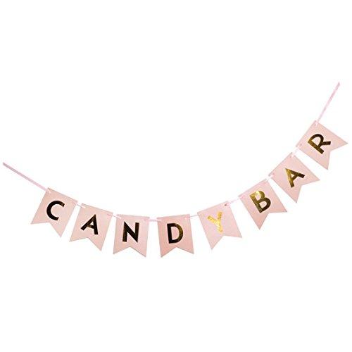 SODIAL(R) Papier Banner Baby Shower Hochzeit Dekoration Geburtstag Party - Candy bar