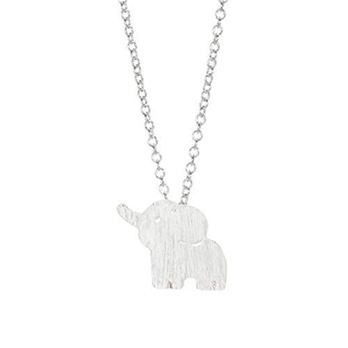 GUUTUUG Plata esterlina de Oro Encantador Elefante Suerte Colgante Collar Pendiente Pulsera...