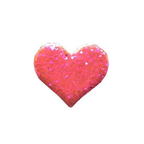 bismarckber Glitter Love Heart Deodorante per Auto Vent Clip Auto diffusore di fragranza Profumo Clip Decorazione, ABS, Red, Taglia U