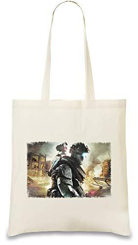 Preisvergleich Produktbild Tom Clancy's Ghost Recon Zukunftssoldat City Battle - Tom Clancy's Ghost Recon Future Soldier City Battle Custom Printed Tote Bag| 100% Soft Cotton| Natural Color & Eco-Friendly| Unique, Re-Usable &