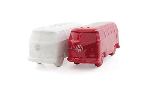 VW Collection by BRISA VW Bus T1 Salz & Pfefferstreuer 2er Set (Rot und Weiß)