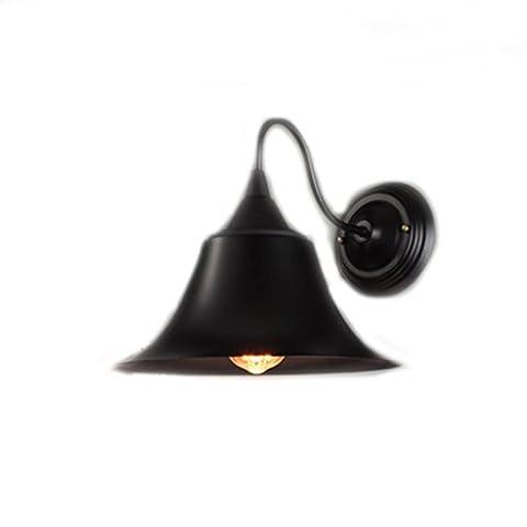 KUN PENG SHOP American Countryside Bedside Bedroom Restaurant Outdoor Corridor Antique Iron Speaker Wall Lamp A+