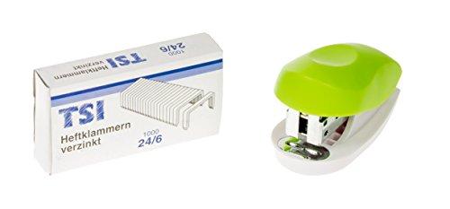 TSI 49070-6 Mini Heftgerät-Set Trend inklusive 1000 Heftklammern