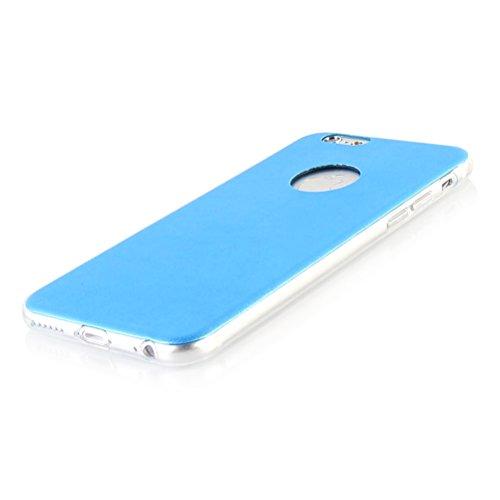"""MOONCASE iPhone 6 Case Housse Gel TPU Étui pour iPhone 6 (4.7"""") Silicone Cover Coque Bleu Bleu"""