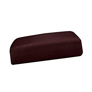D DOLITY Polyester Spandex Stretchy Sofa Futon Seat Cushion Cover Couch Slip Covers Protector Replacement Living Room Home - Dark Brown_Size S