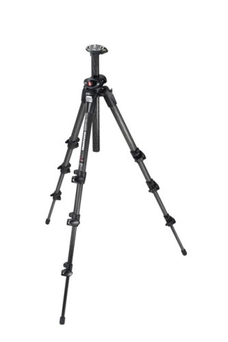 Manfrotto 190CXPRO4 Carbon Stativ (nur 1340 g, 3 Auszüge, Carbon-Basalt, 146 cm Höhe) schwarz ohne Kopf